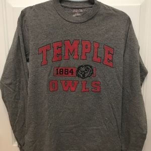 Temple university long sleeve shirt